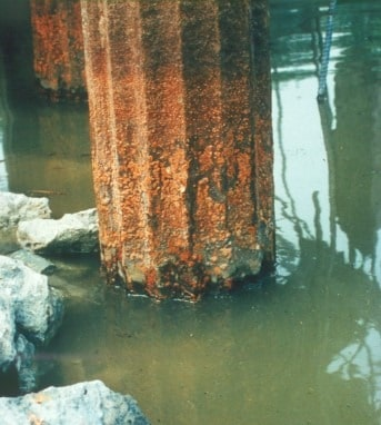 Corrosion of steel piles