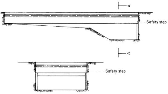 Safety Step Provision for swimming pools