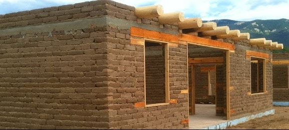 Earthen Block House Construction