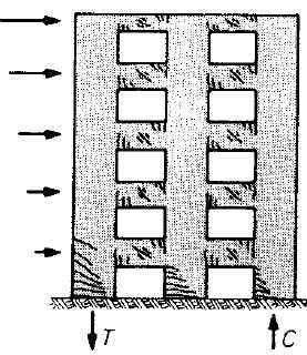 Seismic Load Acts on Coupled Masonry Wall Laterally and Generates Cracks in Spandrels