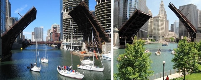 Movable Bridge in Chicago, USA