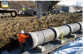 Installation of Sanitary Sewer Pipes