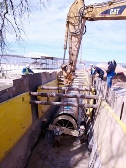 Subaqueous Installation of Sewer Pipes