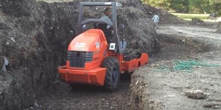 Foundation Soil Preparation for Concrete Block Retaining walls
