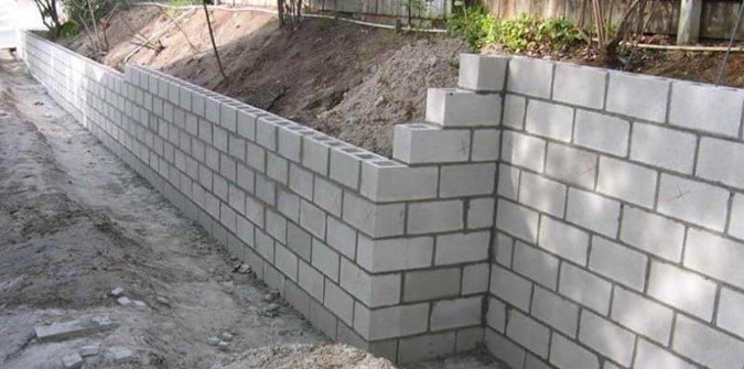 Awesome Construction Of Concrete Block Retaining Walls