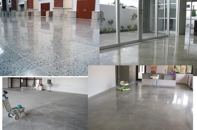 Exposed concrete floor and finishes construction and for Exposed concrete floor