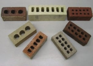 Different Brick with cores of different numbers and size