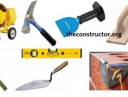 40+ Construction Tools List with Images for Building Construction