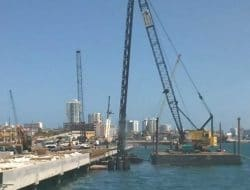 What are Methods of Driving Piles Over Water?