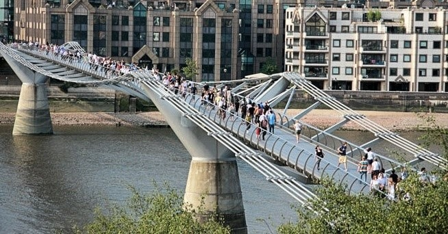 London Millennium Bridge - Vibration in Structure