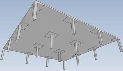 Flat slab system