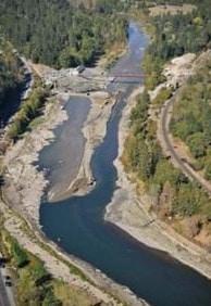 Diversion of River