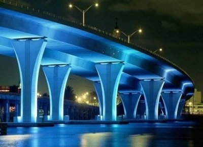 appealing bridge lighting