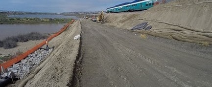 Temporary construction access road
