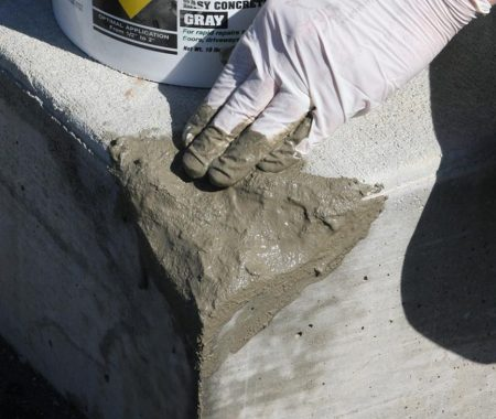 Repair of steps edges with quick setting cement