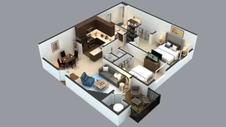 3D Floor Plan.