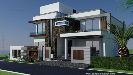 3D External Elevation.