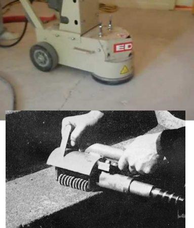 Finishing hardened concrete (dry grinding method)