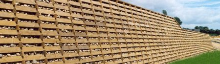 Timber Crib retaining wall