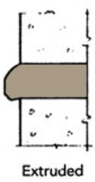 Extruded Mortar Joint