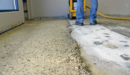 Surface Preparation of Concrete for Polishing by Grinding