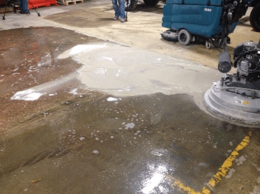 Wet Method of Polishing Concrete
