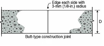 Butt type construction joint