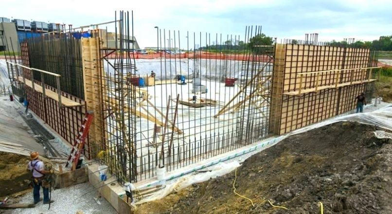 Concrete Wall Construction Process Including Materials