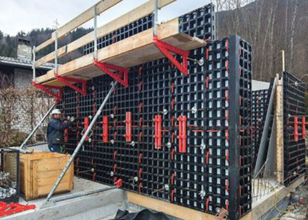 Plastic Formwork for Concrete Wall Construction