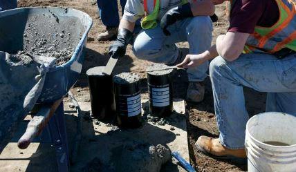 Ready mix concrete sampling