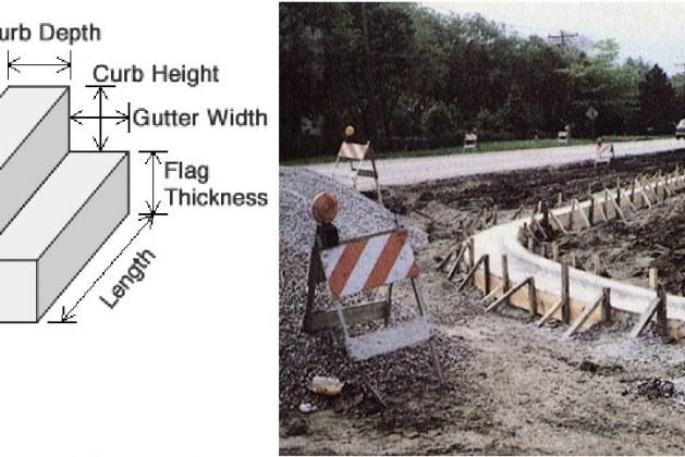 Concrete Gutter Construction- Methods and Work Procedure