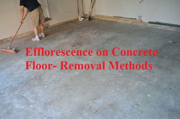 Efflorescence On Concrete Floor And Removal Methods