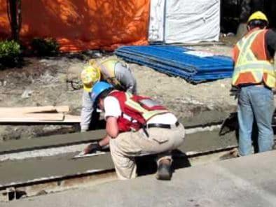Finishing Concrete Gutter