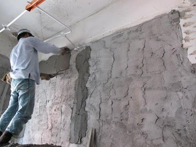 Applying of Finishing coat of plastering work