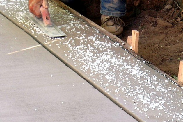 How to make Salt Finish Concrete Surface