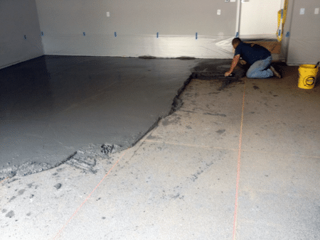 Laying of topping concrete