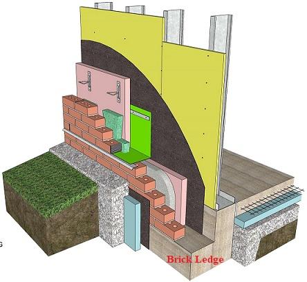 Brick Ledge Support Brick Veneer Wall