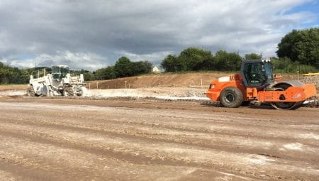 Compacting and Mixing Lime-Soil