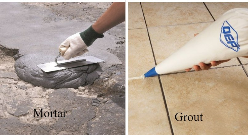 Differences Between Mortar and Grout