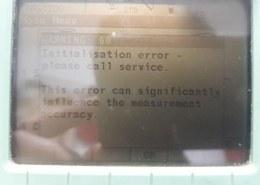 LEICA Total Station 1200 Warning