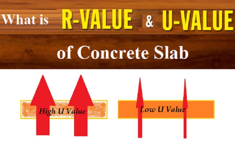 U Value Of Concrete Slab Per Inch