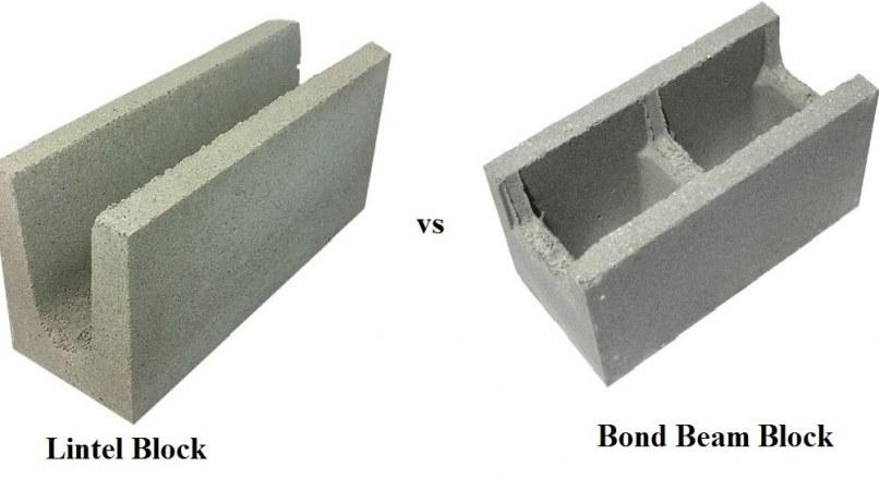 Bond Beam Block vs. Lintel Block Differences