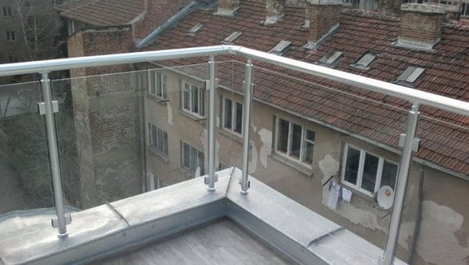 Fiberglass and Steel Railing Parapet Wall