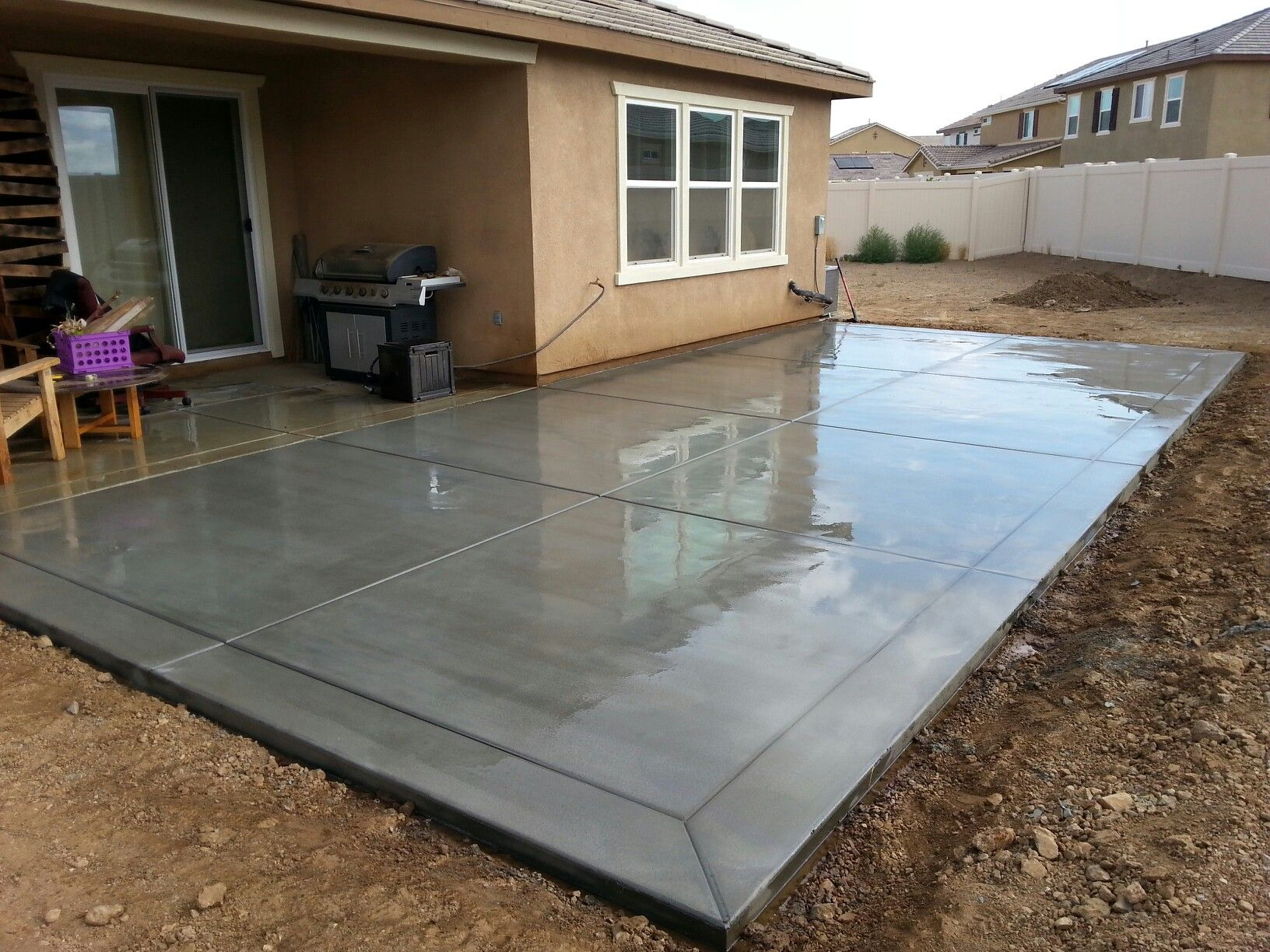 Garage Concrete Floor Slab - Construction, Thickness and Cost on Concrete Slab Patio Ideas id=27482