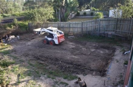 Preparing Construction Site for Concrete Slab for a Shed