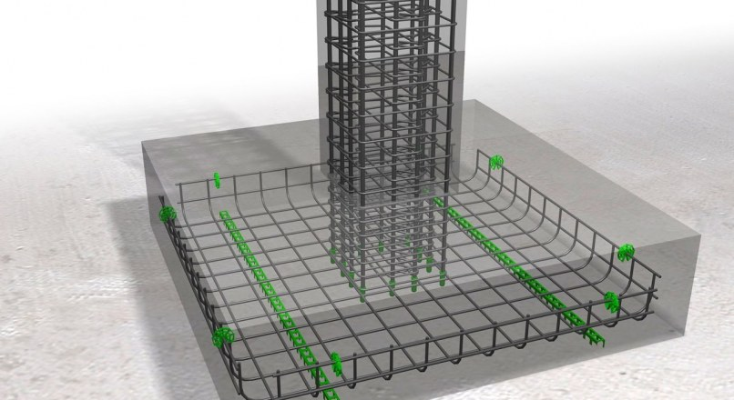 Placement of Rebar in Footings – Horizontal and Vertical Rebars