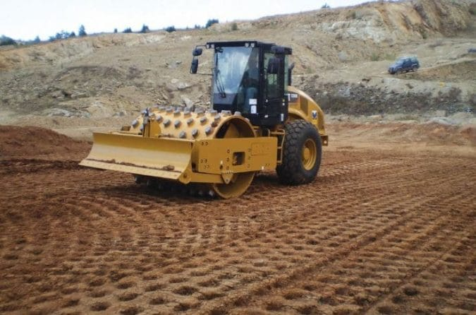 Compaction of Soil using Roller