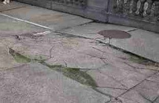 Frost Heave damaged Concrete