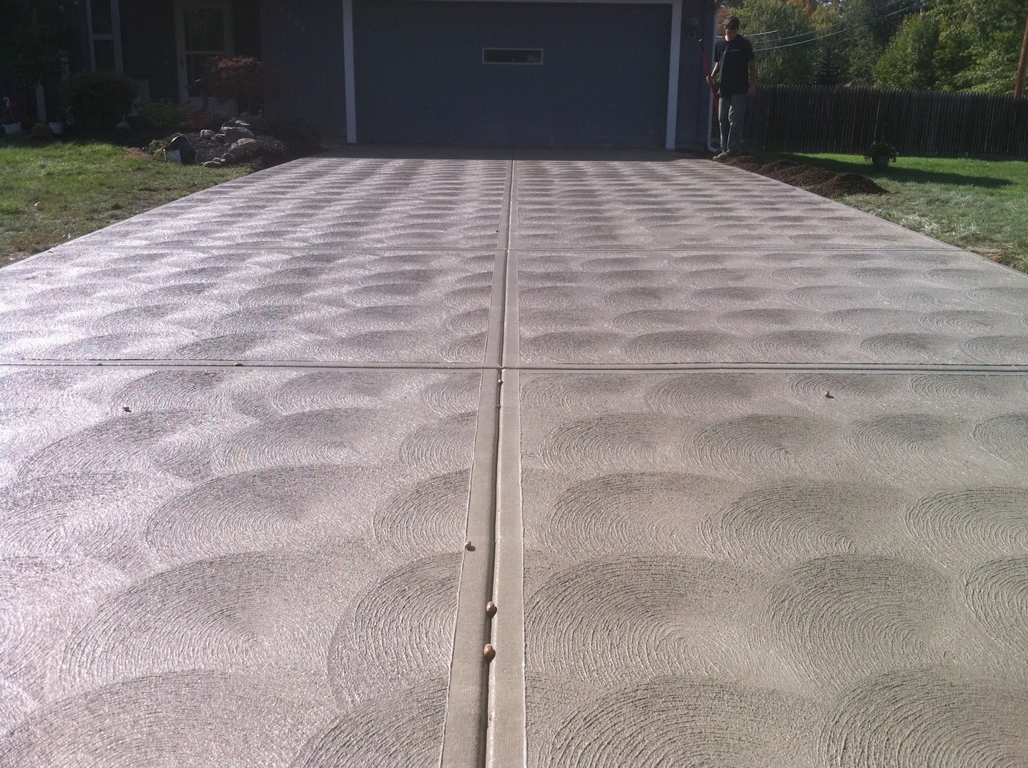 Swirl Finish Concrete - Construction, Practical Considerations and