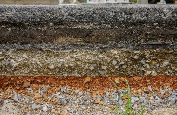 Thickness of Soil Layers Under Pavement